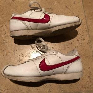Nike Red Swoosh Classic Tennis Shoes